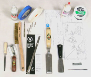 K110 Marquetry Kit Tools and Supplies