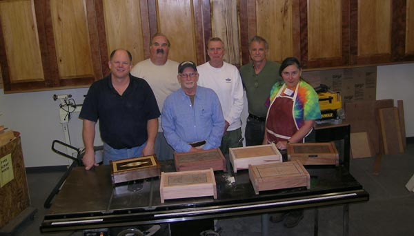 2 day jewelry box marquetry class taught by Paul Schürch